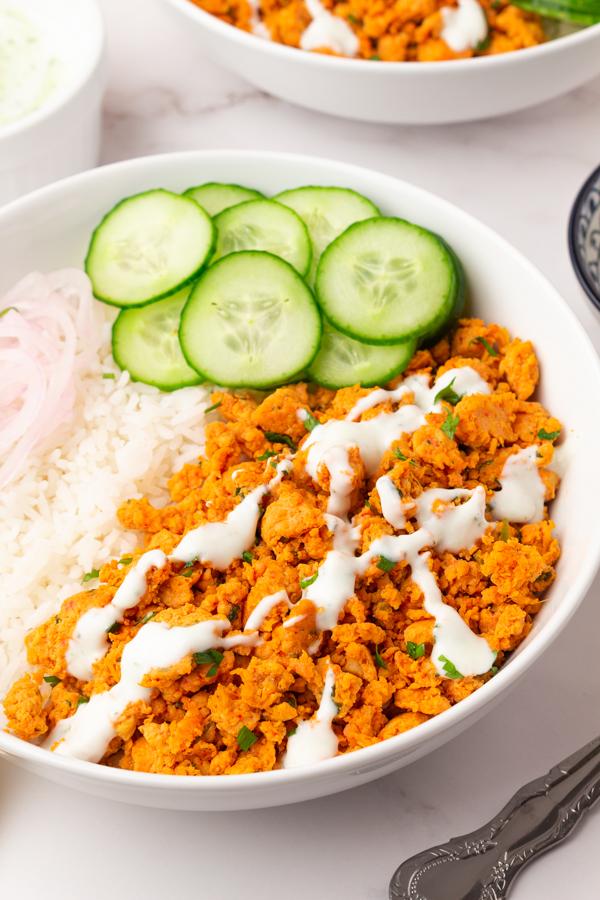 Tandoori  Chicken Rice Bowls - with ground chicken