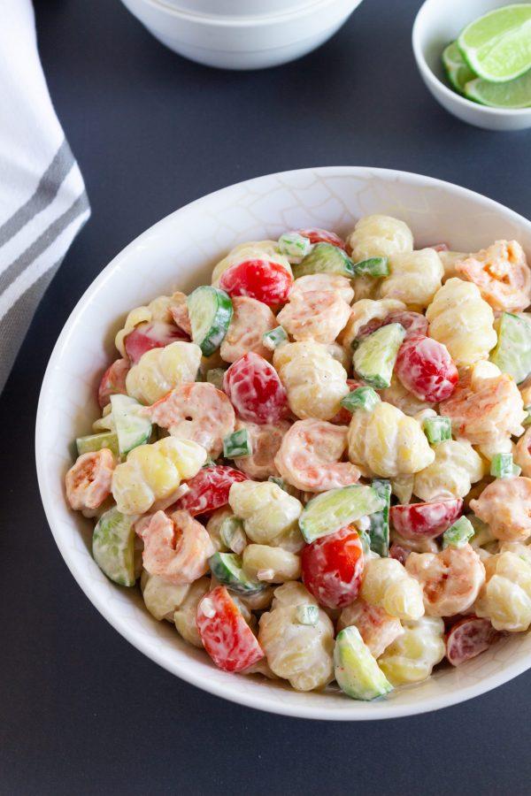 Creamy Shrimp Pasta Salad