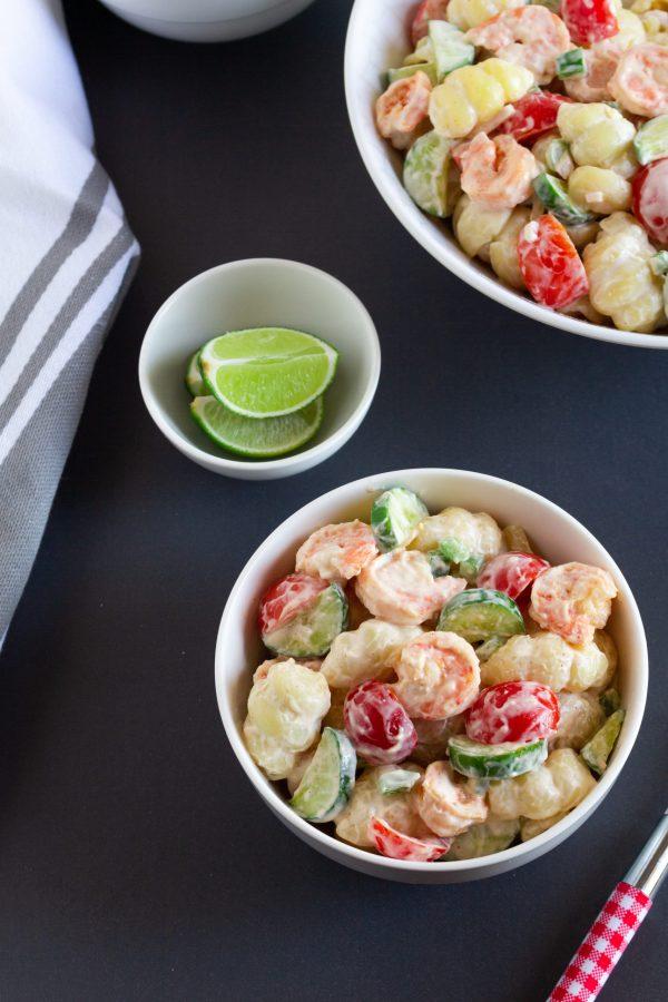 shrimp salad with mayonnaise