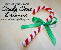Candy Cane Pipe Cleaner Ornament for Christmas