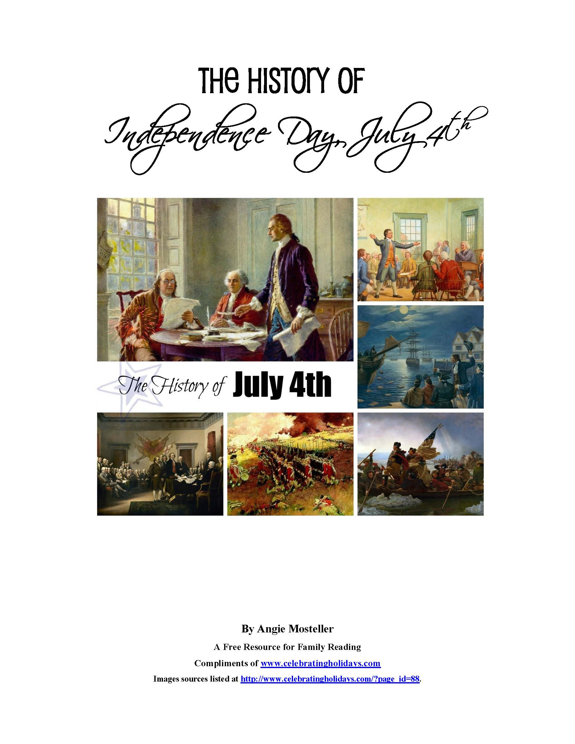 July 4th History Freebie