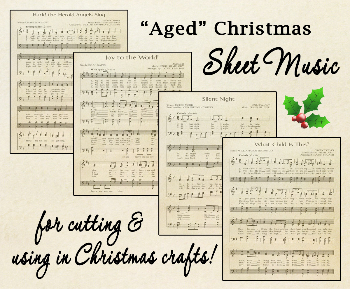 Free Printable Aged Music Sheets