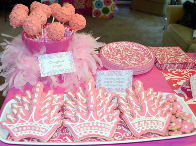 Pink Damask Birthday Party Dessert Table