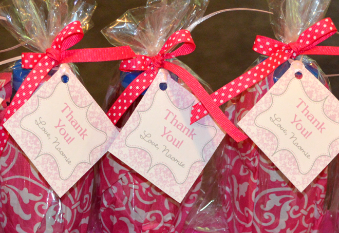 Pink Damask Princess Birthday Party Favor Tags | Celebration Lane