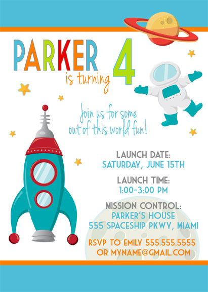 Modern Outer Space Party Invitation | Celebration Lane