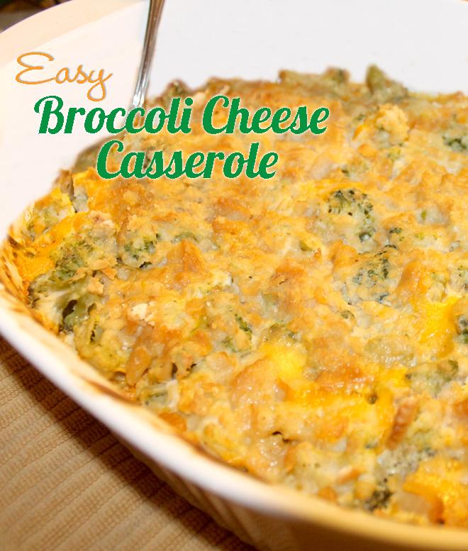 Easy Broccoli Cheese Casserole