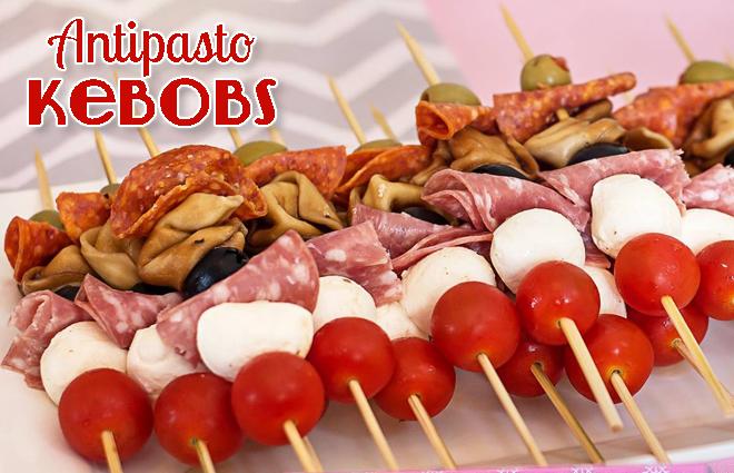 Party Food: Antipasto Kebobs