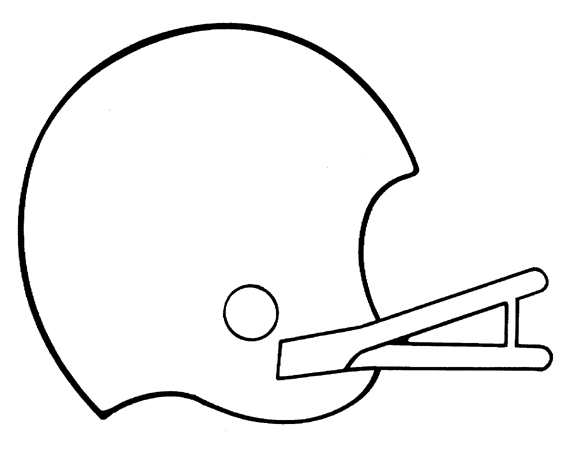 Football Coloring Page (free printable)