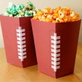 Football Party Free Popcorn Box Printable