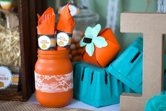 Little Pumpkin Rustic Fall Baby Shower Ideas