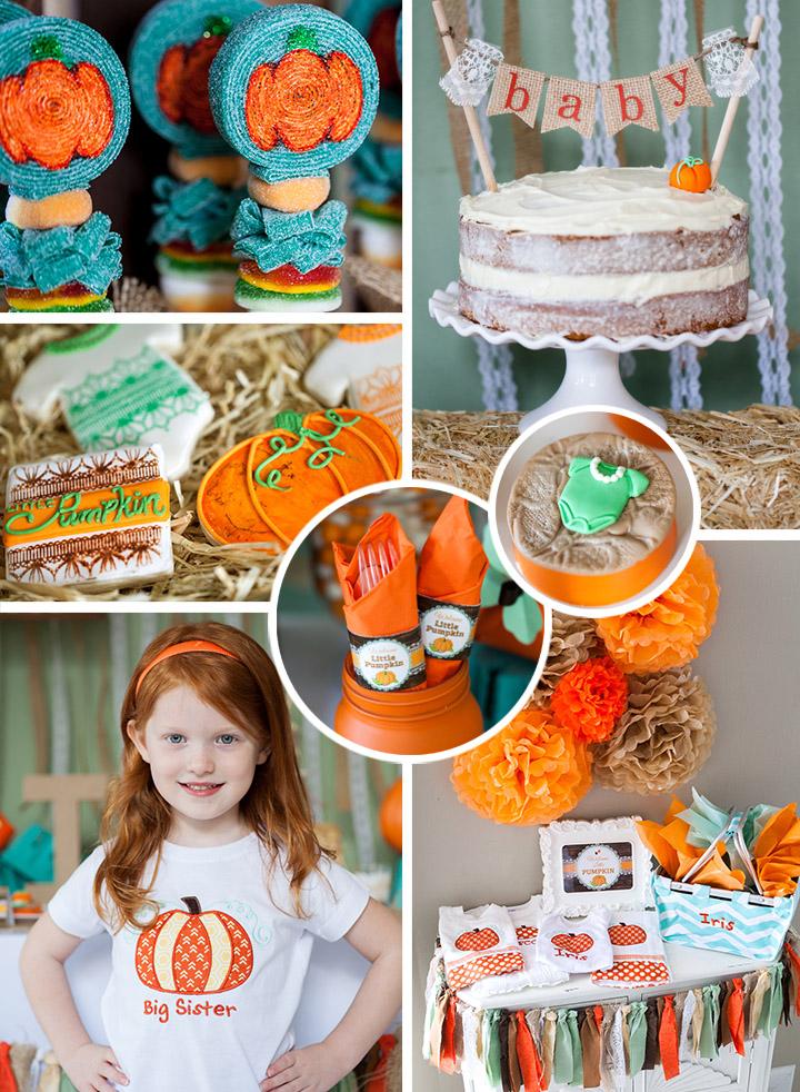Fall Little Pumpkin Baby Shower Ideas