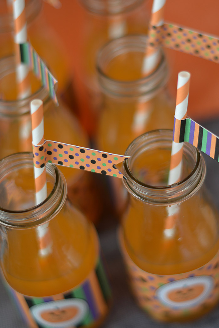 Party Ideas Not So Spooky Halloween - Drinks and Labels