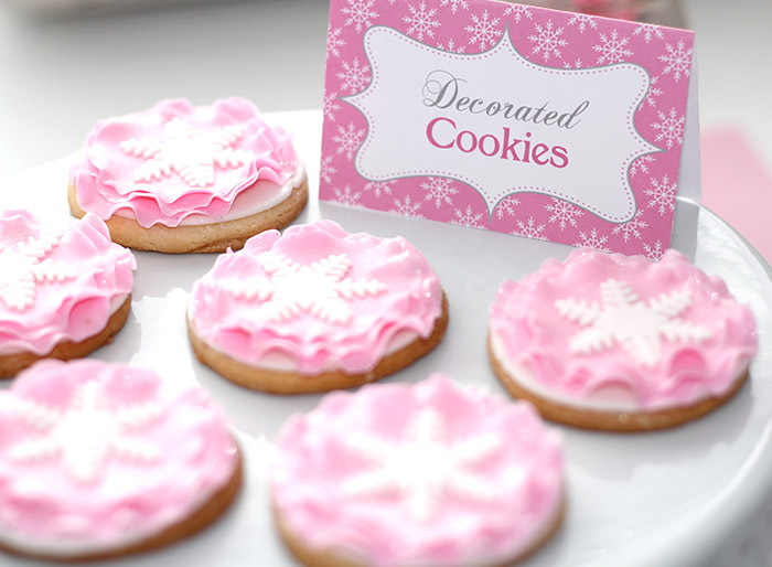 Winter Wonderland Penguin Snowflake Cookies