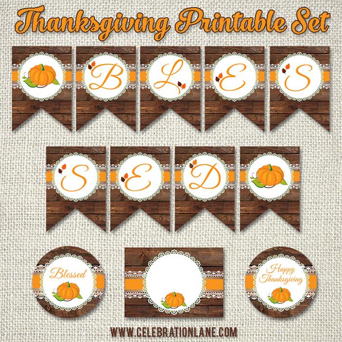 FREE Thanksgiving Printable Package | CelebrationLane.com