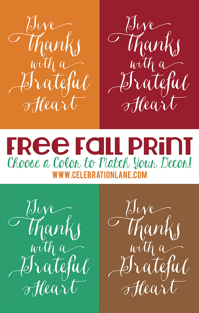 Thanksgiving Quote Free 8x10 Fall Printable | CelebrationLane.com