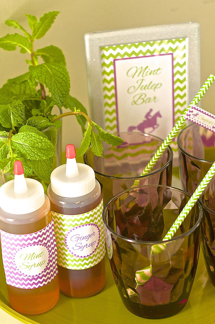 Kentucky Derby Bridal Shower - Mint Julep Station | CelebrationLane.com