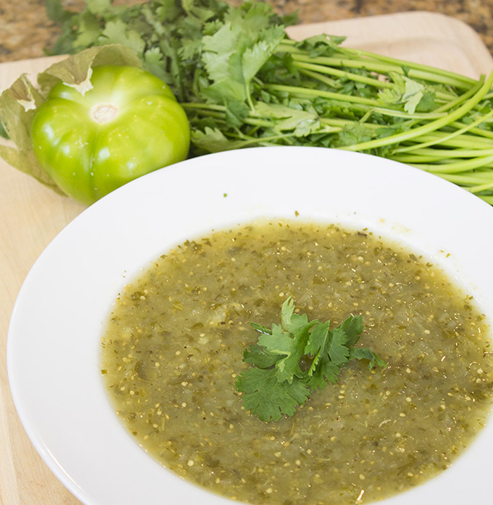 Salsa Verde Recipe with tomatillos from the Farmer's Market!