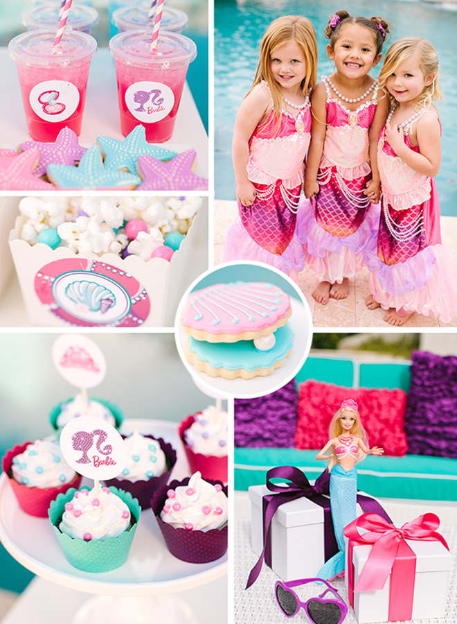 Barbie The Pearl Princess Pool Party Celebration Lane