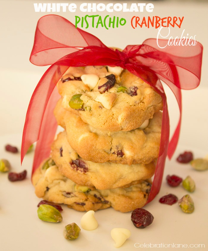 White Chocolate Chip Cranberry Pistachio Cookies Recipe