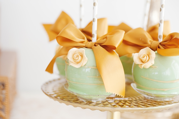 Mint To Be Bridal Shower Candy Apples