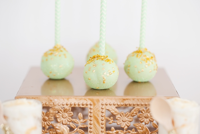 Mint To Be Bridal Shower Cake Pops