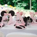 Minnie Mouse Birthday Party Tablescape