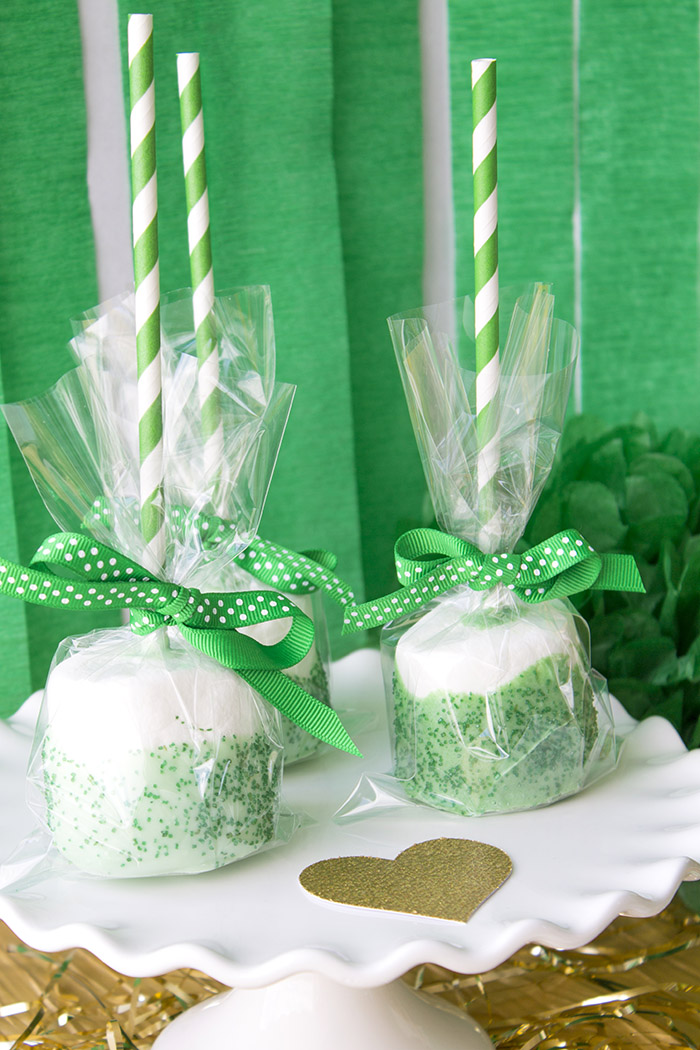 """St. Patrick's Day """"Lucky In Love"""" Party - Giant Marshmallow Pops"""