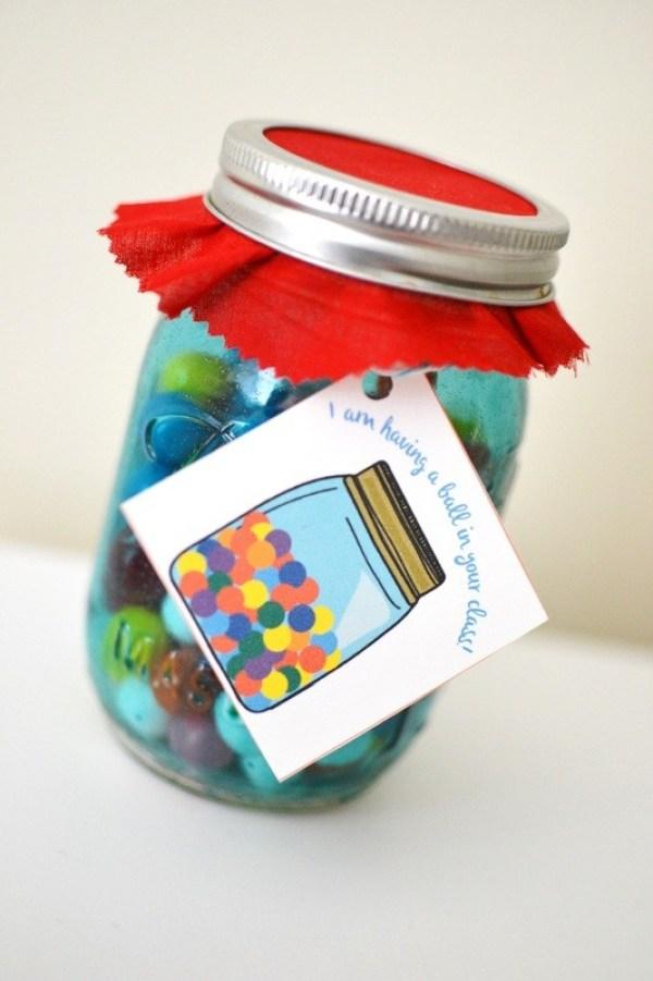Teacher Appreciation Day Gift Ideas - Gumball Jar