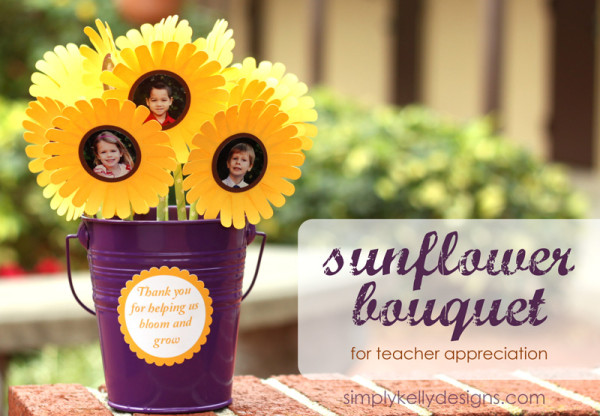 Teacher Appreciation Day Gift Ideas - Sunflower bouquet