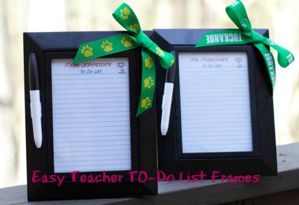Teacher Appreciation Day Gift Ideas - To Do LIst Frames