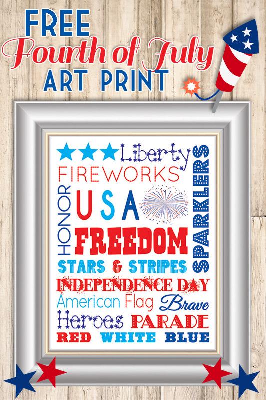 Free 4th of July Subway Art Print   www.celebrationlane.com