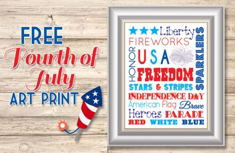 Free 4th of July Subway Art Print