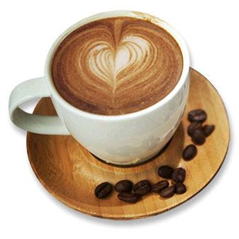 coffee love heart foam