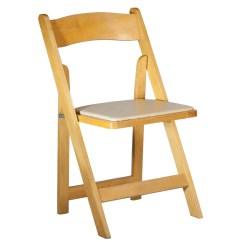 Folding Wood Chair 1 2 Chairs Natural Celebrations Party Rentals