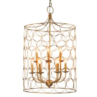 Gold Circle Chandelier - Celebrations! Party Rentals