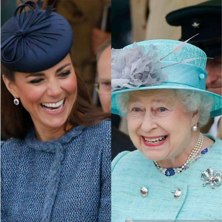 Kate with Queen Elizabeth II