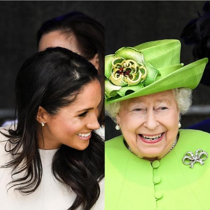 Meghan with Queen Elizabeth II