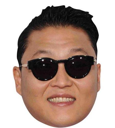 A Cardboard Celebrity Big Head of Psy