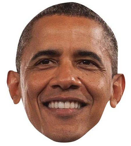 A Cardboard Celebrity Big Head of Barak Obama