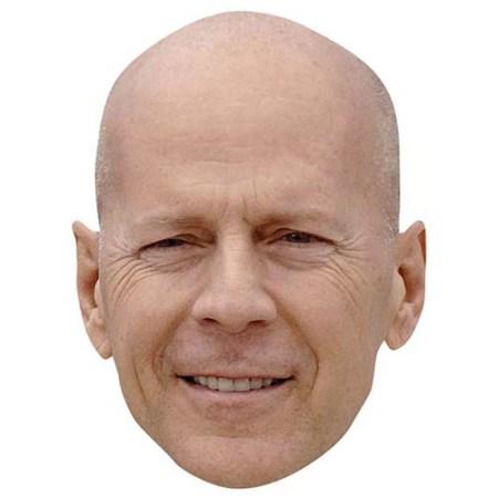 A Cardboard Celebrity Big Head of Bruce Willis