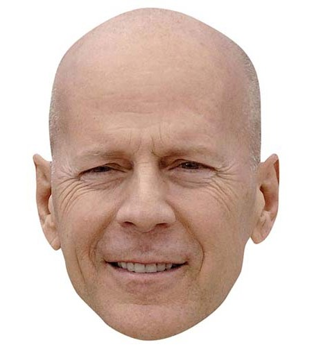 A Cardboard Celebrity Big Head of Bruce Willis