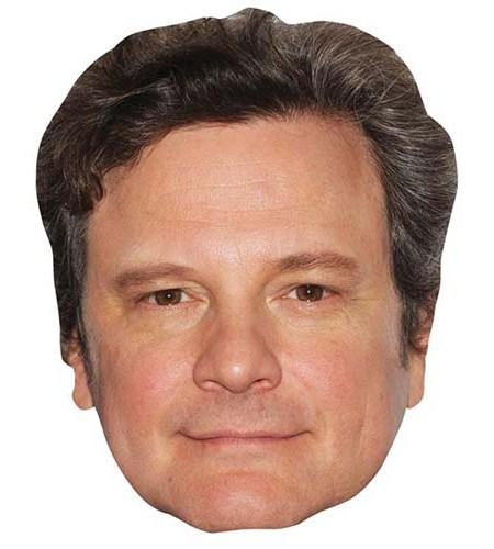 A Cardboard Celebrity Big Head of Colin Firth