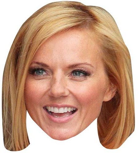 A Cardboard Celebrity Mask of Geri Halliwell