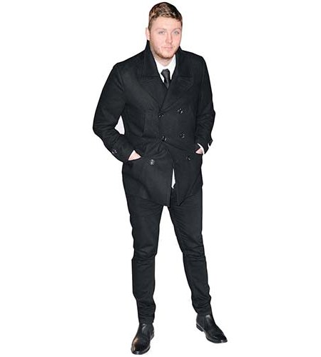 A Lifesize Cardboard Cutout of James Arthur wearing a jacket and tie