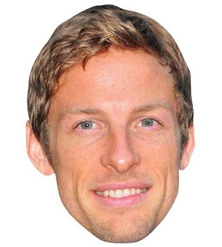 A Cardboard Celebrity Big Head of Jenson Button