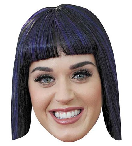 A Cardboard Celebrity Big Head of Katy Perry
