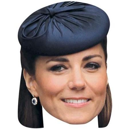 A Cardboard Celebrity Big Head of Kate Middleton