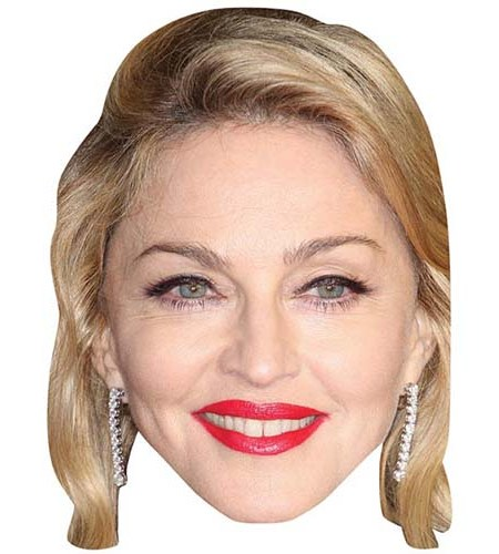 A Cardboard Celebrity Big Head of Madonna