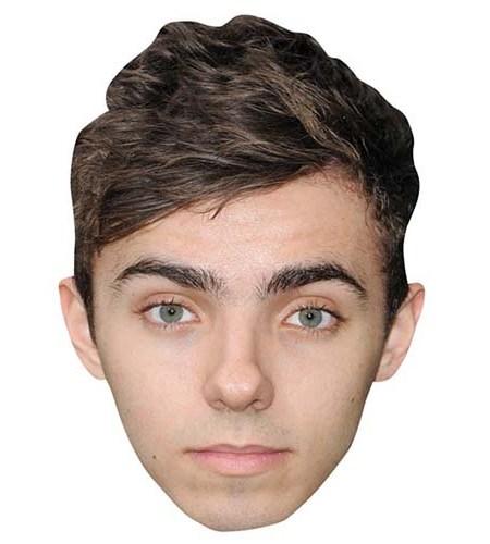 A Cardboard Celebrity Big Head of Nathan Sykes