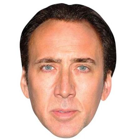 A Cardboard Celebrity Big Head of Nicolas Cage